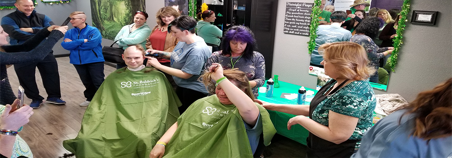Participants Getting Heads Shaved
